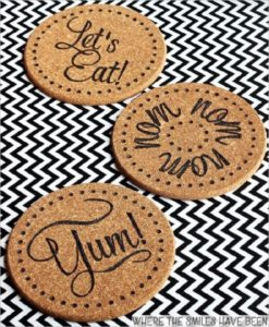 32 Unique and Useful DIY Burned IKEA Cork Trivets as Kitchen Coasters for Hot Stuff