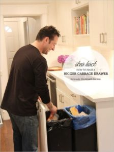 37 Useful IKEA Garbage Drawer Hack with a Wide Storage for your Kitchen Junks