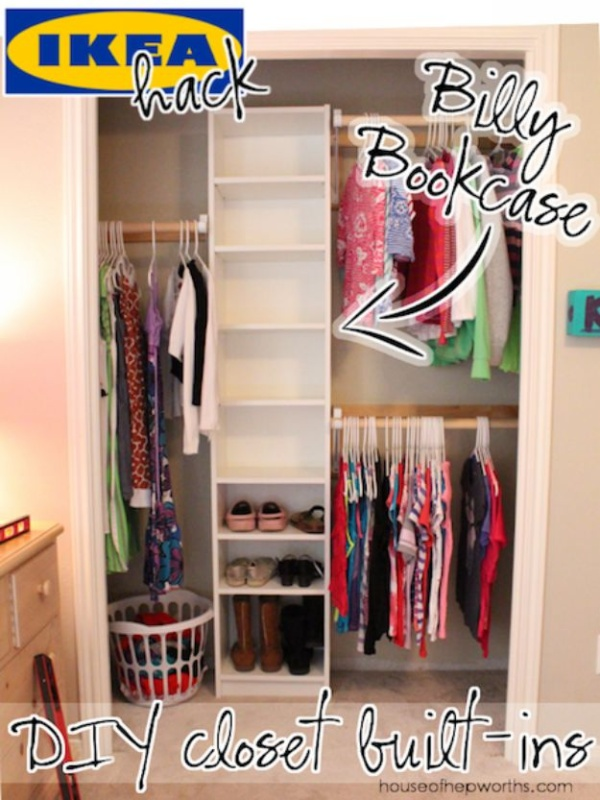 16 Utterly Easy DIY Closet Organization in Builtin Wardrobe Shelves with Various Sturdy Cases
