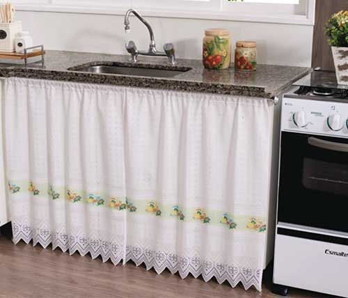 40 Utterly Trendy DIY Kitchen Cabinet Curtain with Lace ...