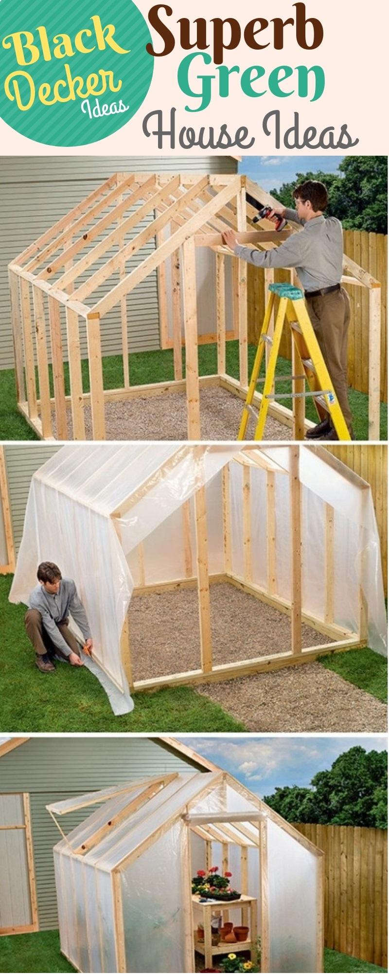 Spacious and Vivacious Green House Ideas: DIY Green House Plans