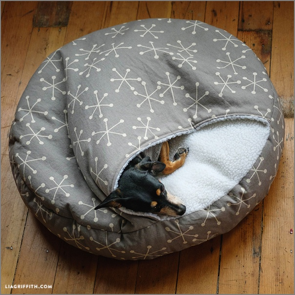 Cozy Burrow Dog Bed