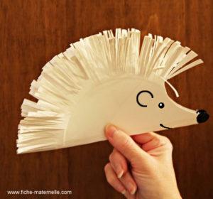 DIY Paper Hedgehog Craft Using Paper Plates