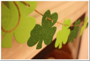 Irish Mantel: DIY Felt Shamrock Mantel