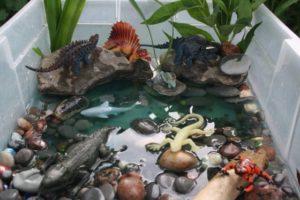 Adventurous Dino Activity with Mini Structure of Dinosaur World