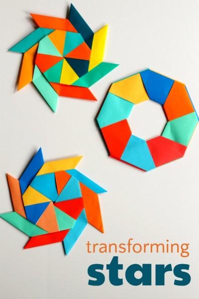 Super Creative Transforming Ninja Star Origami Paper Craft