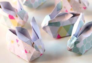 DIY Origami Easter Bunny Crafting Idea