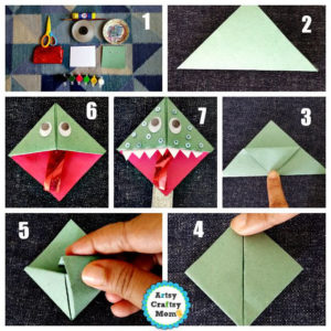 Cute & Creative Origami Monster Bookmark Project