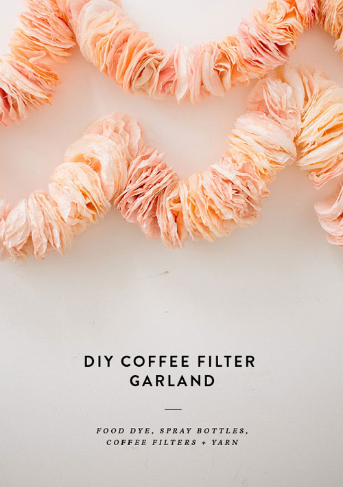 Amazing Coffee Filter Garland for a Nice Hall Decoration