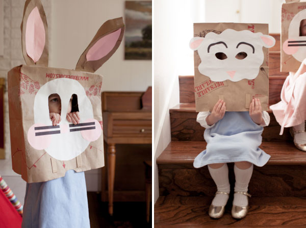 DIY Easter Mask for Kids from Brown Shopping Bags