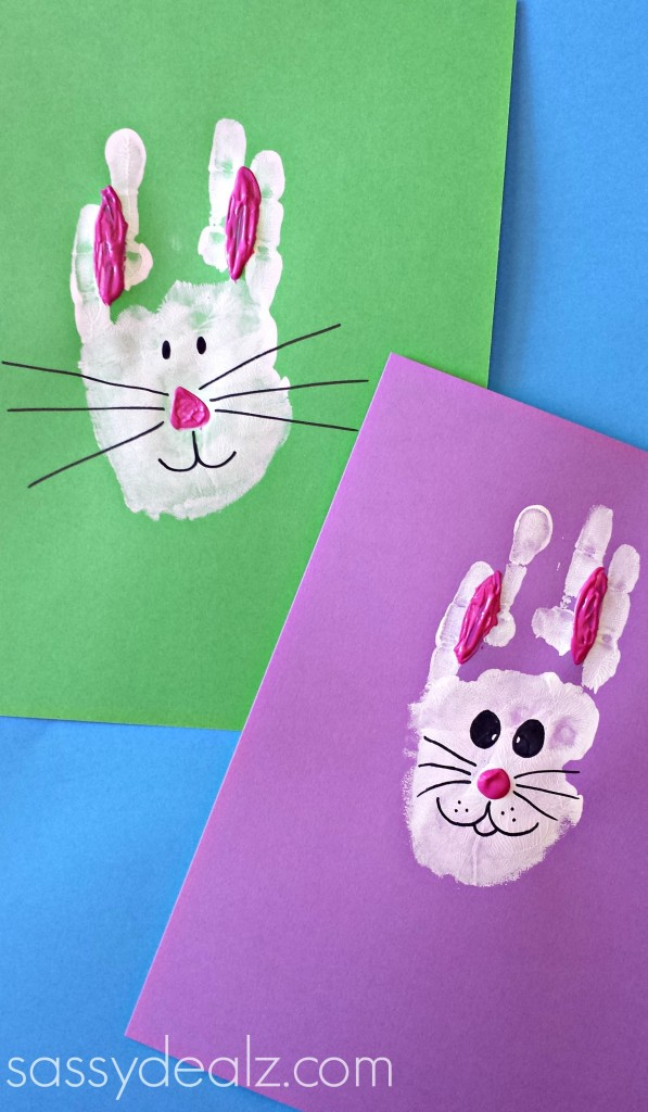 Cute Handprint Craft for Kids: DIY Easter Bunny Face