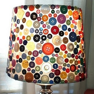 Amazing Button Art: DIY Lamp Shed Project