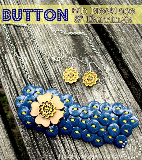 Lavish Button Necklace with Floral Highlight