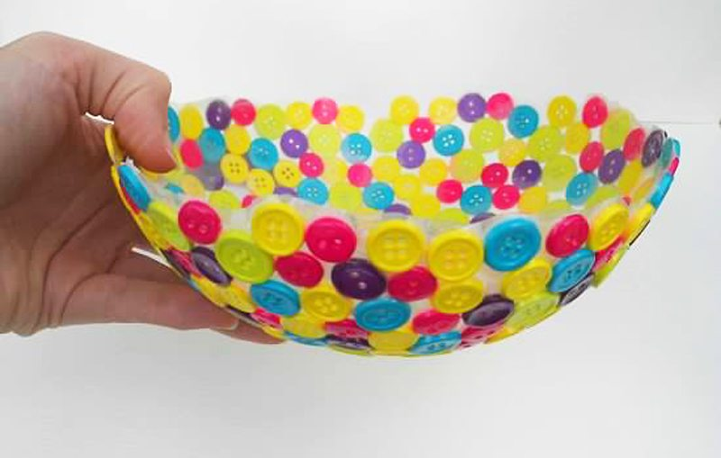 Tutorial of Classy Button Bowl in Step by Step Method