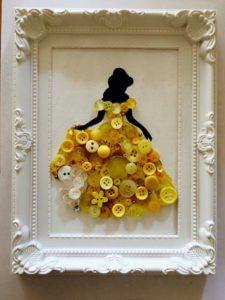 Beautiful Bella Costume for Framed Wall Art