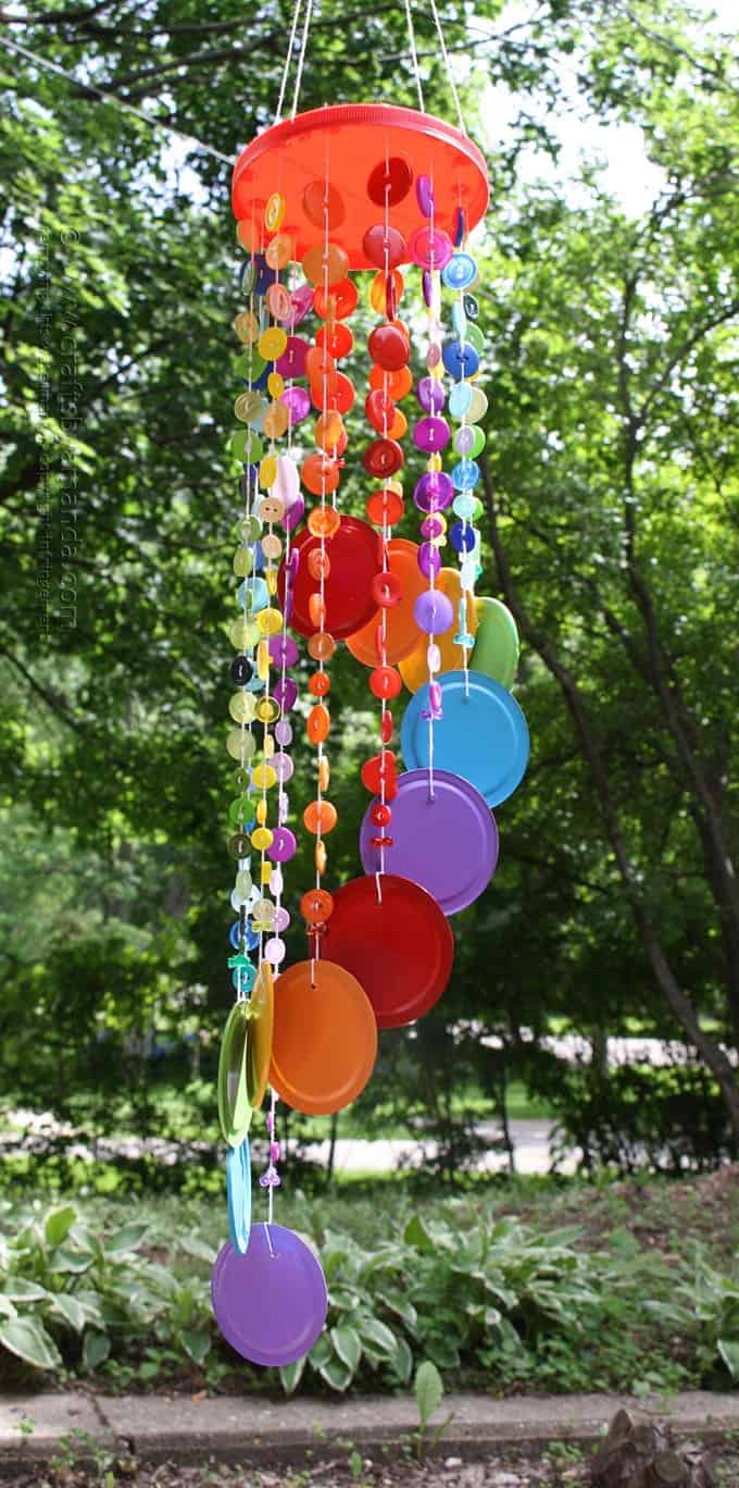 DIY Button Wind Chimes with Nice Color Stroke