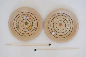 Smart ad Innovative Paper Plate Magnet Maze