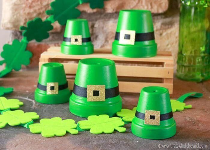 Clay Pot Craft: Leprechaun Hat Home Decor