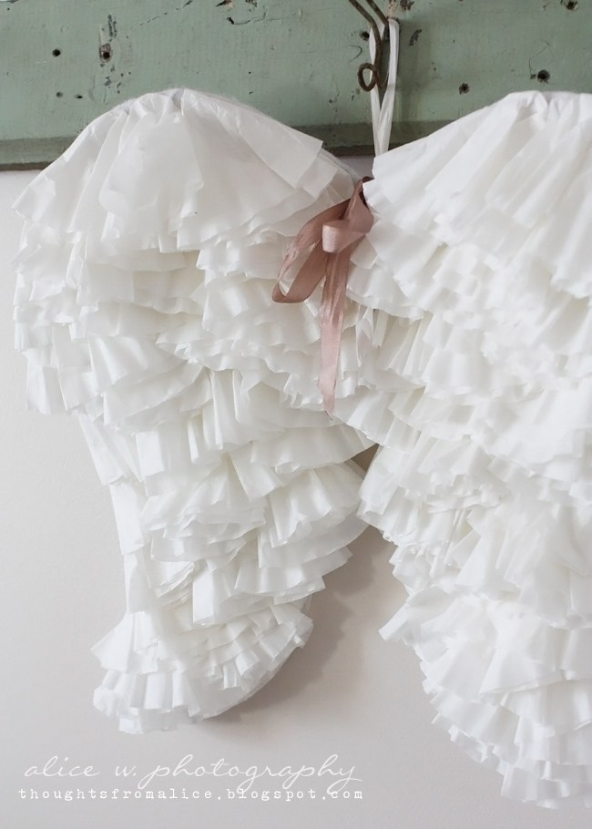 Coffee Filter Angel Wings for a Perfect Angelic Costume