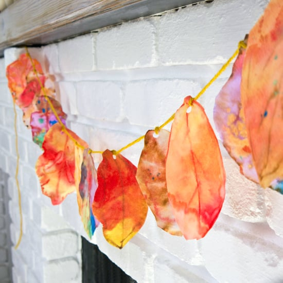 Colorful Coffee Filter Fall Leaves Garland for a Catchy Hall Decoration