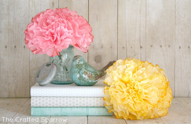 Vibrant Coffee Filter Peonies Flowers for Room Decor