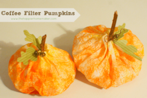 Coffee Filter Pumpkins- Perfect DIY Halloween Crafts for Kids