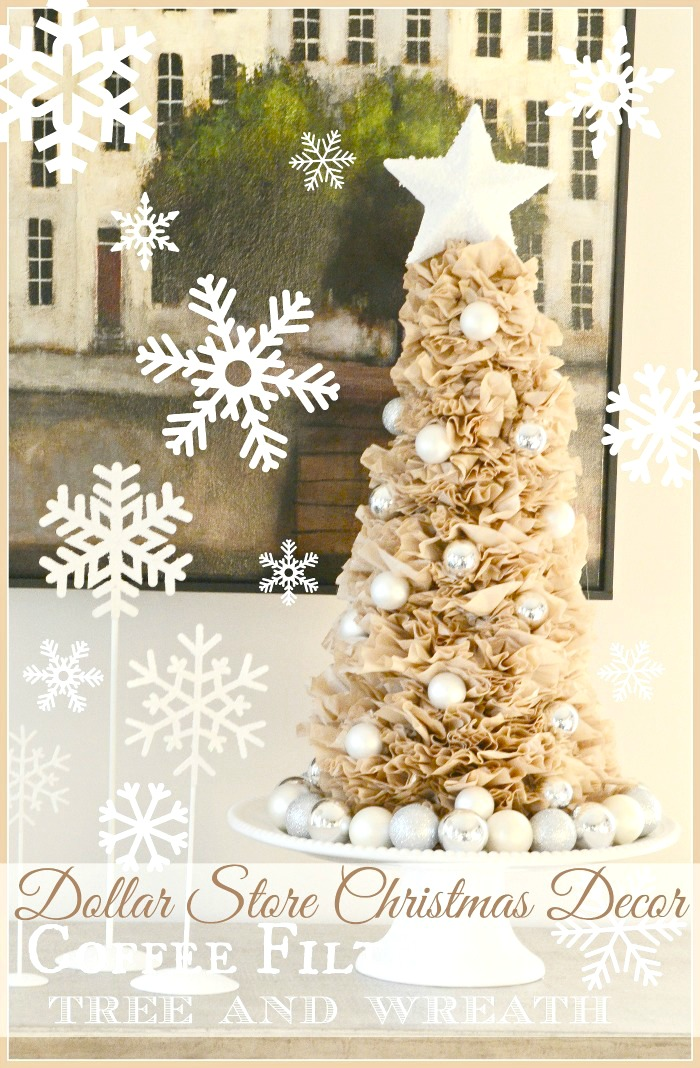 Coffee Filter Christmas Tree for a DIY Xmas Decoration