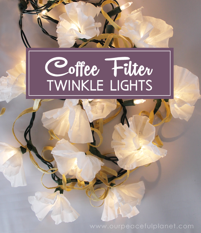 Coffee Filter Flower Decor with Catchy Twinkling Lights