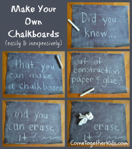 Diy Construction Paper Chalkboard Truly Hand Picked
