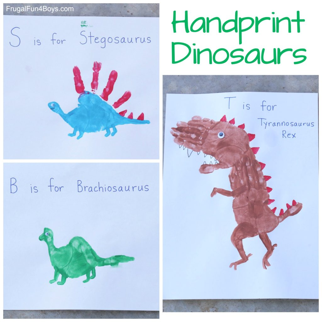 2 Minute Dinosaur Craft For Kids With Handprints Truly