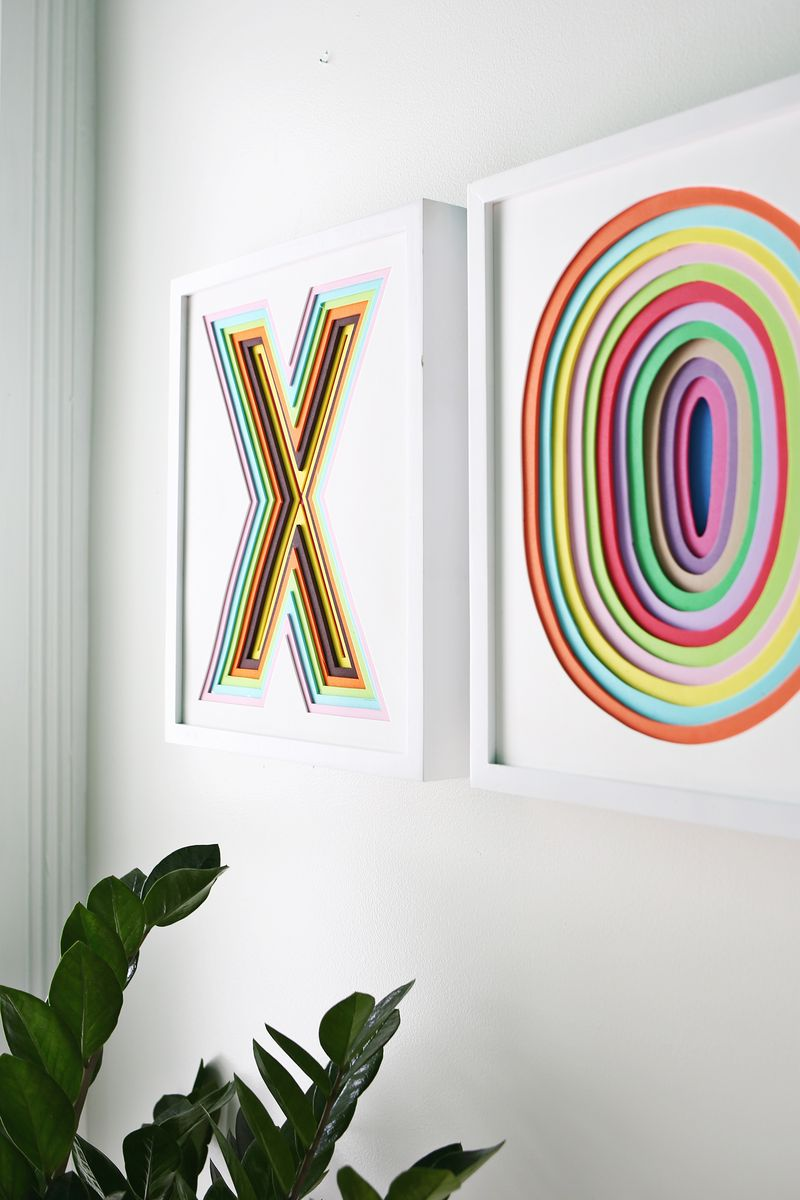 Abstract Colorful Wall Art with Foam Sheet