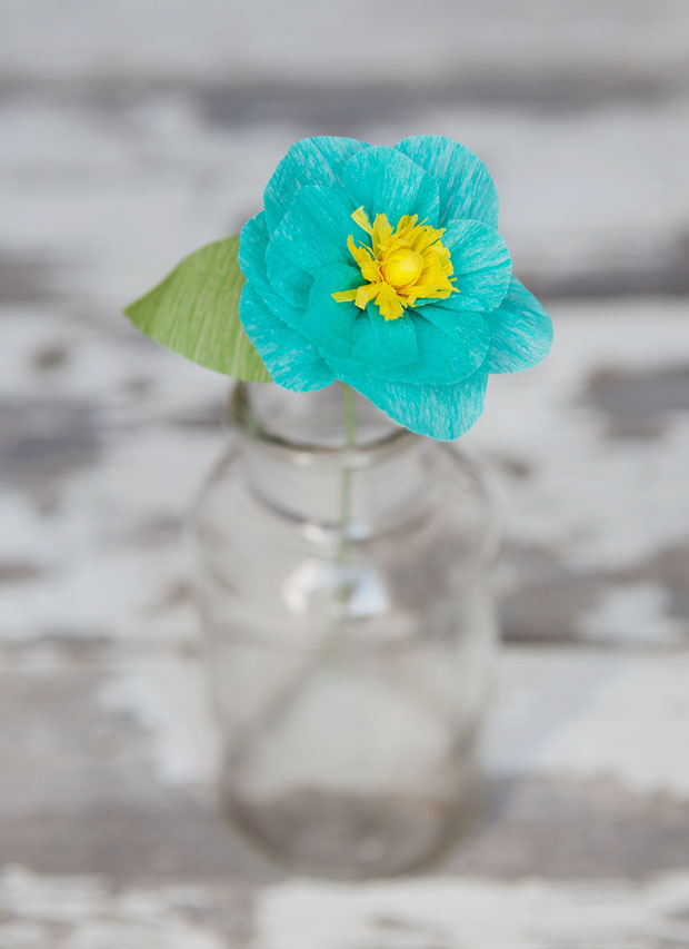2 MInutes Paper Craft: Simple and Quick Crepe Flower