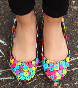 Simple Shoe Decor with Various Bold Buttons