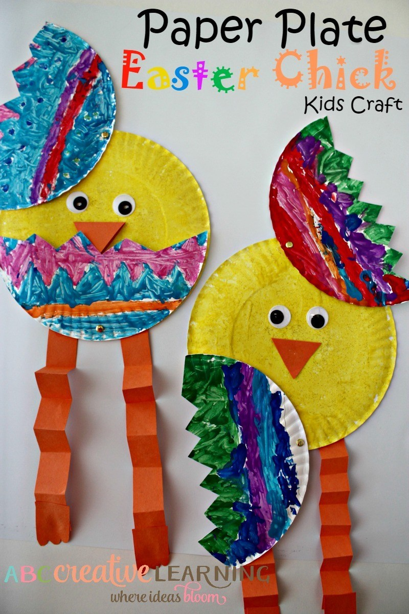 Paper Plate Easter Chicks as Quick and Bold Kids Craft