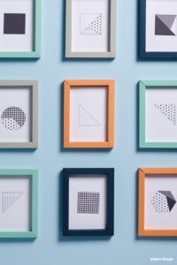 3D Folded Paper Frames as Classy Wall Art Decor