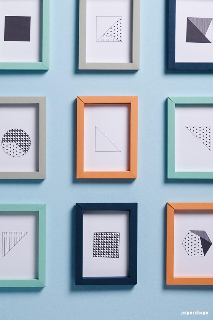 3D Folded Paper Frames as Classy Wall Art Decor