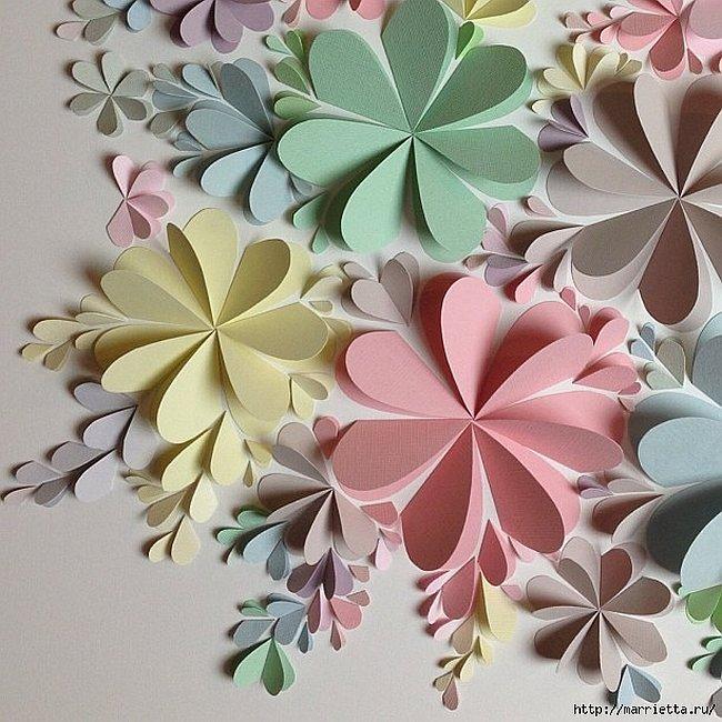 Captivating 3D Paper Flower Wall Art