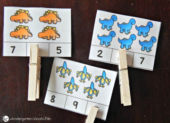 Cute Dinosaur Counting Cards for Kids: A Clever Dino Activity