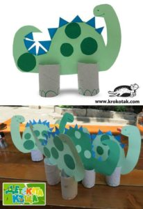 Easy-to-Craft Paper Dinosaur