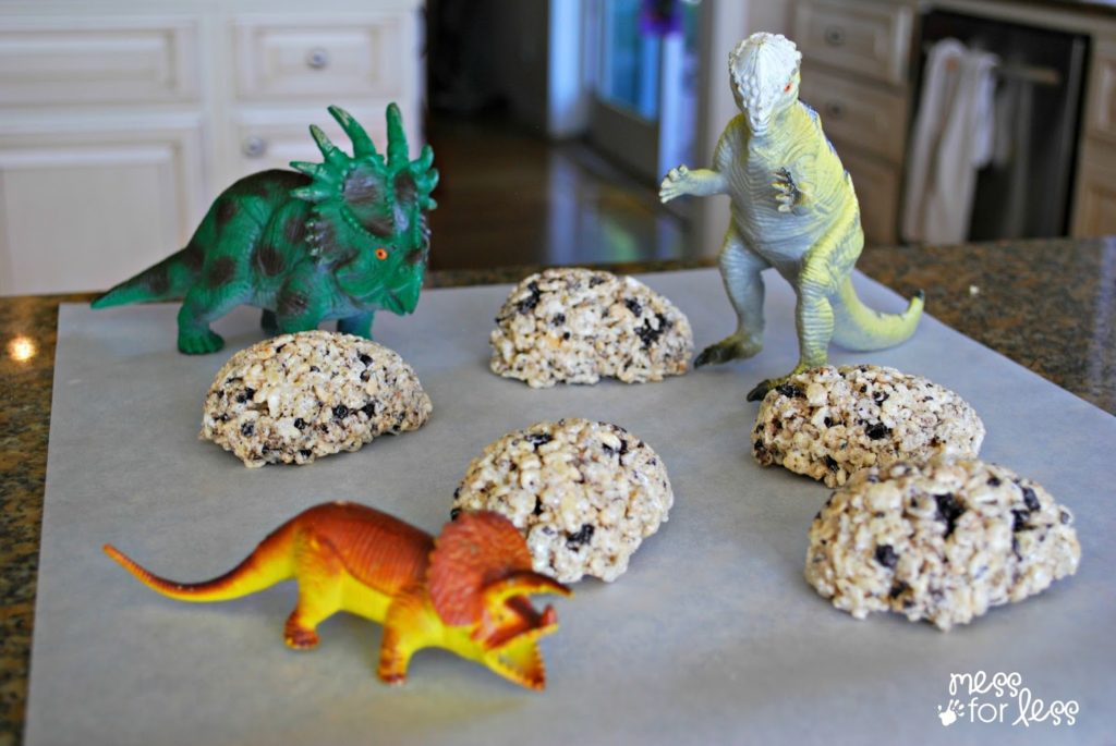 Rice Krispie Treat in Dinosaur Egg Shape