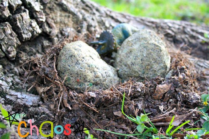 Educational Kids Activity: Dinosaur Nest Craft