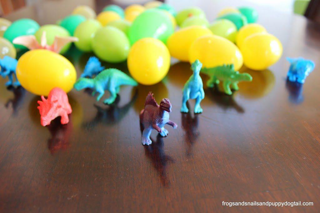 Dinosaur Scavenger Hunt with Plastic Eggs- An Amusing Dino Activity