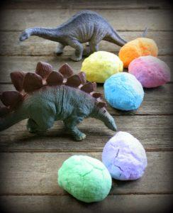 Colorful Dinosaur Egg Craft Bath Bombs