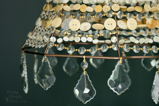 DIY Super Classy and Exclusive Pendant Light with Button Adornment
