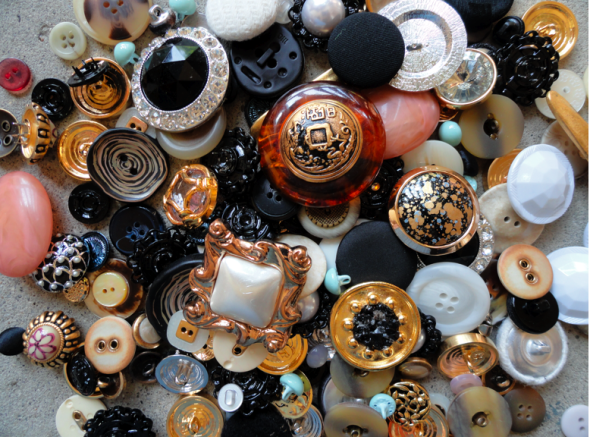 DIY Statement Ring Craft with Large Buttons
