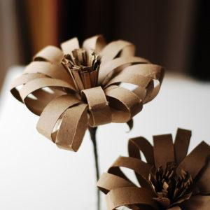DIY Tissue Paper Roll Cardboard Flower