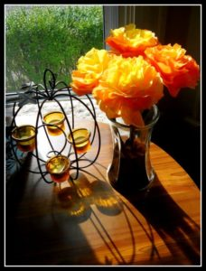 DIY Coffee Filter Flowers for Halloween