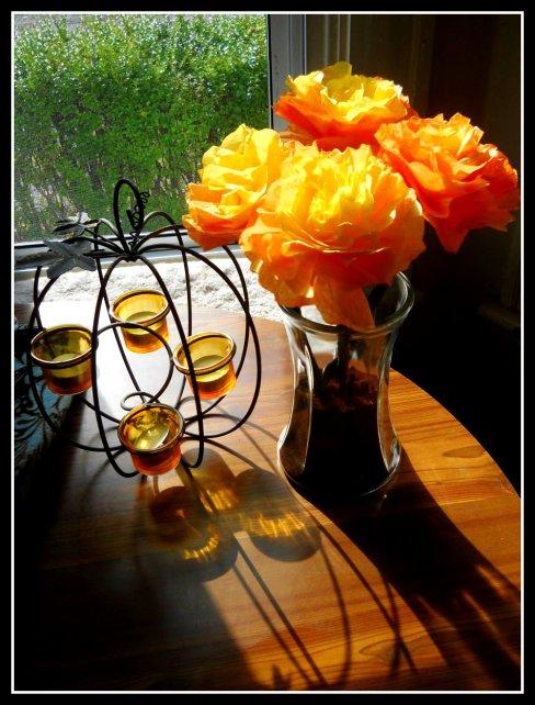 DIY Coffee Filter Flowers for Halloween