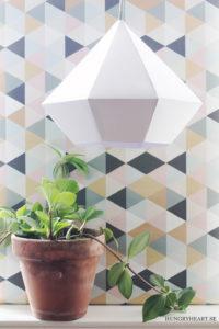 DIY Diamond Paper Pendant Light for a Classy Interior