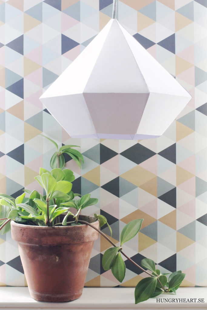 DIY Diamond Paper Pendant Light for a Classy Interior